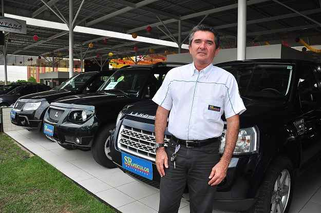 S�rgio Tadeu, vice-presidente do Shopping Carro Legal, acredita no sucesso do feir�o (Ov�dio Carvalho/ON/D.A Press)